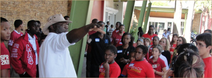 FIU, Overtown Youth Center and Fisher Island Day School Tour
